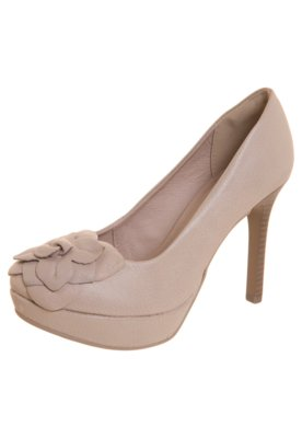 Sapato Scarpin Dakota Meia-Pata Flor Nude