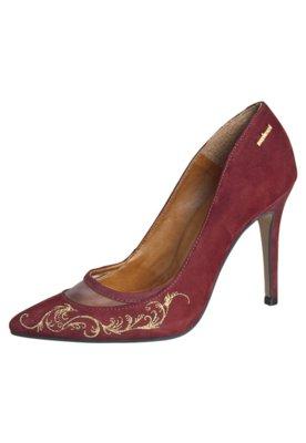 Sapato Scarpin Bordado Barroco Diva Vinho - Colcci