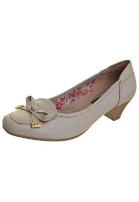 Sapato Scarpin Anna Flynn Laço Bege