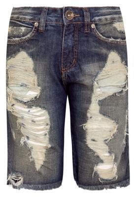 Bermuda Jeans Espaço Fashion Impious Azul