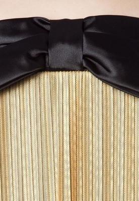 Vestido Plissado Princess Dourado - Shop 126