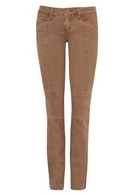 Calça Jeans Forum Skinny Jegging Recortes Marrom