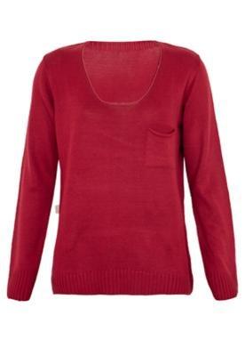 Blusa Tricô Mercatto Urbano Vermelha