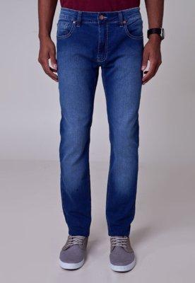 Calça Jeans Acostamento Skinny Lucky Azul
