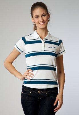 Camisa Polo Listrada 11 Branca/Azul - Penalty
