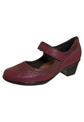 Sapato Scarpin Piccadilly Boneca Velcro Vinho