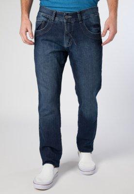 Calça Jeans Reta Fit Pespontos Azul - Biotipo