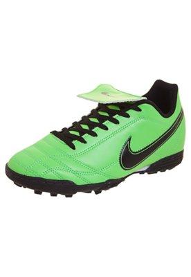 Chuteira Society Infantil Nike Jr Egoli TF Verde