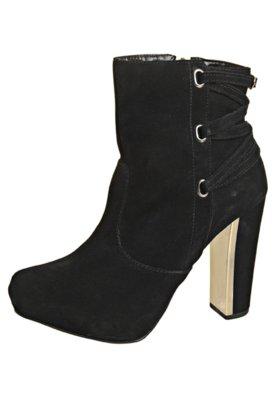 Ankle Boot Tiras Preta - FiveBlu