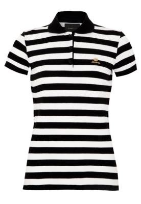 Camisa Polo Sommer Reta Listras Preta