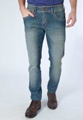 Calça Jeans Skinny Bordados Azul - Osmoze