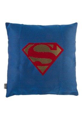Capa de Almofada Lartex Warner DC Brasão Super Man Azul