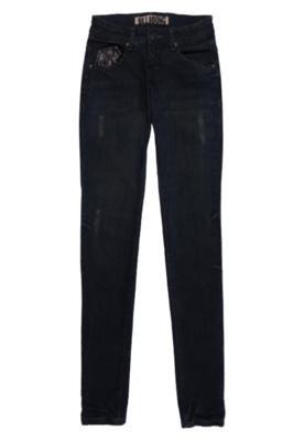 Calça Jeans Billabong Puídos Azul