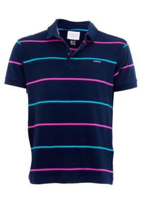 Camisa Polo Colcci Brasil Fity Azul