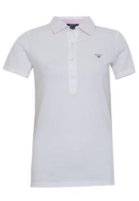 Camisa Polo Gant Oxford Pique Branca