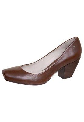 Sapato Scarpin Bico Quadrado Marrom - Capodarte