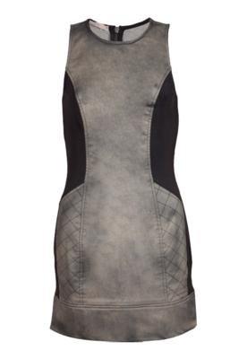 Vestido Recortes Cinza - Espaço Fashion