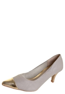 Sapato Scarpin Anna Flynn Biqueira Bege