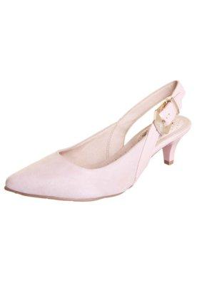 Sapato Scarpin Miucha Chanel Bico Fino Rosa