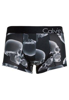 Cueca Calvin Klein Boxer Estampada Caveira Preta - Calvin Kl...