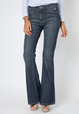 Calça Jeans Forum Flare Strass Azul