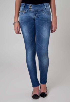 Calça Jeans Sawary Skinny Curves Azul