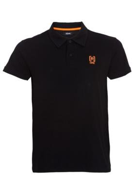 Camisa Polo [R]ONE Bordado Marca Preta