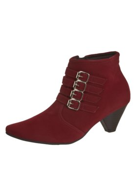 Ankle Boot Crysalis Fivelas Vermelha