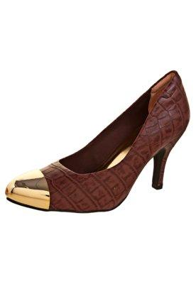 Sapato Scarpin Anna Flynn Fashion Modern Vinho