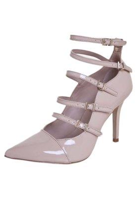 Sapato Scarpin Jorge Bischoff Bico Fino Multi Tiras Fivelas ...