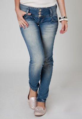 Calça Jeans Colcci Botões Azul