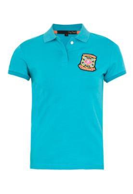 Camisa Polo Pop Touch Rugby League Azul