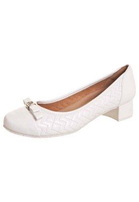 Sapato Scarpin Zenska Saltinho Matelassê Branco
