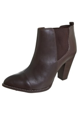 Ankle Boot Lilly's Closet Elástico Marrom