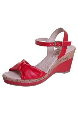 Sandália Malu Super Comfort Luci Vermelha
