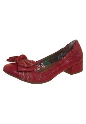 Sapato Scarpin Cravo & Canela Laço Vermelho