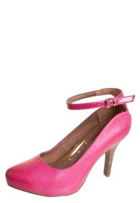 Sapato Scarpin Ramarim Total Confort Pulseira Rosa