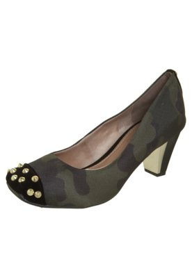 Sapato Scarpin FiveBlu SPikes Verde
