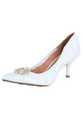 Sapato Scarpin Vizzano Salto Médio Ferragem Branco