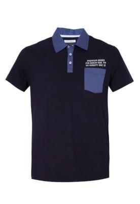 Camisa Polo Recorte Azul - FiveBlu