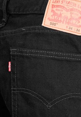 Calça Jeans Levi's Reta 505 Preta - Levis