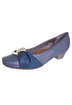 Sapato Scarpin Piccadilly Charuto Metal Azul