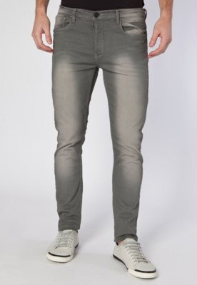 Calça Jeans Handbook Masking Skinny Cinza