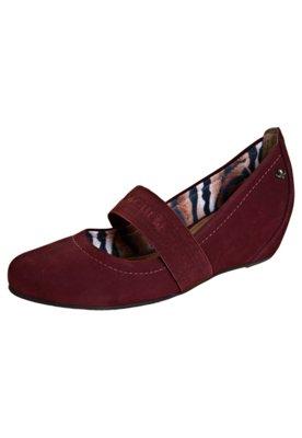 Sapato Scarpin Cravo e Canela Elástico Anabela Embutida Vin...