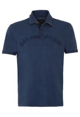 Camisa Polo Calvin Klein Mood Azul - Calvin Klein Jeans