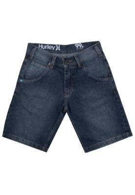 Bermuda Jeans Hurley Relaxed Azul