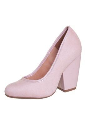Sapato Scarpin Vizzano Salto Grosso Rosa