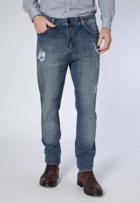 Calça Jeans Cavalera Skinny Super Elastic Boy Sam Azul