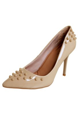 Sapato Scarpin FiveBlu Tachas Bege