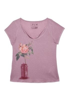 Blusa Confort Sobreposta Roxa - Coca Cola Clothing